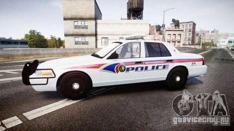 Ford Crown Victoria Bohan Police [ELS] для GTA 4 вид слева