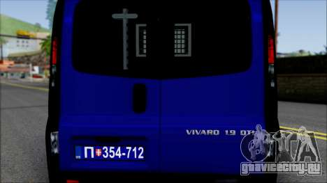 Opel Vivaro Policija для GTA San Andreas вид изнутри