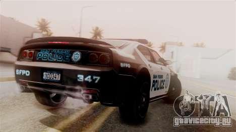 Hunter Citizen from Burnout Paradise Police SF для GTA San Andreas вид слева