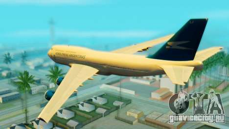 Boeing 747 Argentina Airlines для GTA San Andreas вид слева
