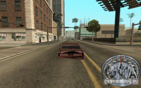 Железный спидометр для GTA San Andreas третий скриншот