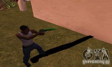 Deagle Green Style для GTA San Andreas третий скриншот