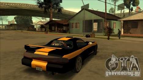ZR-350 Road King для GTA San Andreas вид сзади слева