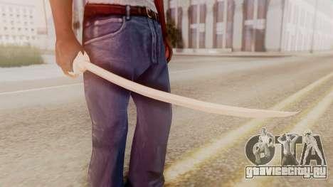 Red Dead Redemption Katana Crome Sword для GTA San Andreas второй скриншот