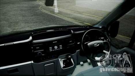 Ford Transit SSV 2011 для GTA San Andreas вид сзади слева