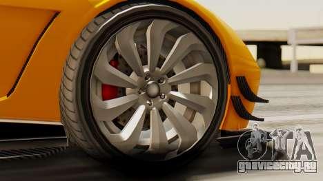 Pegassi Osyra Full Extras для GTA San Andreas вид сзади слева