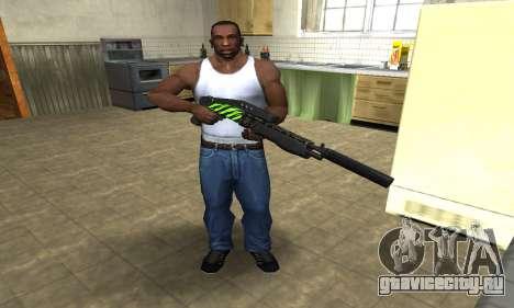 SPAS-12 Green Lines для GTA San Andreas третий скриншот