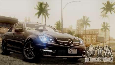 Mercedes-Benz C63 AMG 2015 Edition One для GTA San Andreas вид сбоку