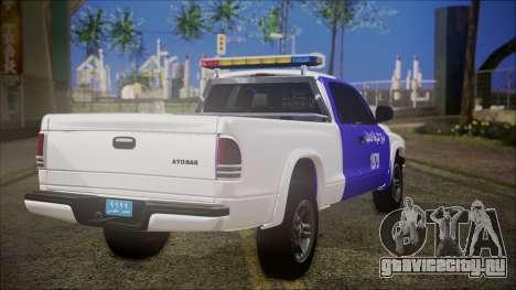 Dodge Dakota Iraqi Police для GTA San Andreas вид слева