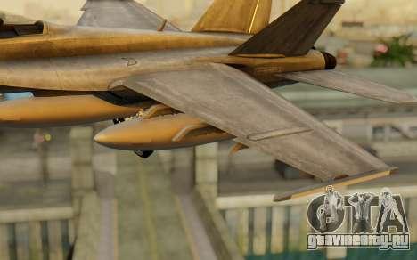 FA-18F Super Hornet BF4 для GTA San Andreas вид справа