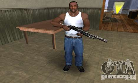 Black Flowers Shotgun для GTA San Andreas третий скриншот