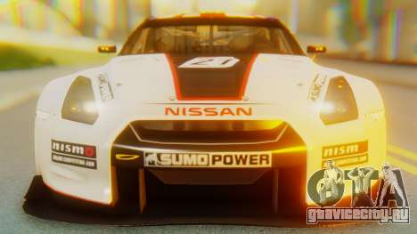 Nissan GT-R GT1 Sumo Tuning для GTA San Andreas вид изнутри