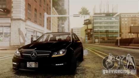 Mercedes-Benz C63 AMG 2015 Edition One для GTA San Andreas вид изнутри