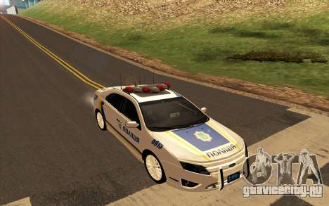 Ford Taurus Ukraine Police для GTA San Andreas вид сзади слева