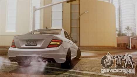 Mercedes-Benz C63 AMG 2015 Edition One для GTA San Andreas вид сверху