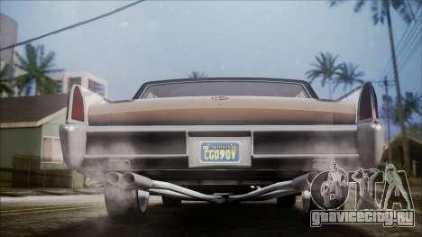 GTA 5 Vapid Chino IVF для GTA San Andreas вид сзади
