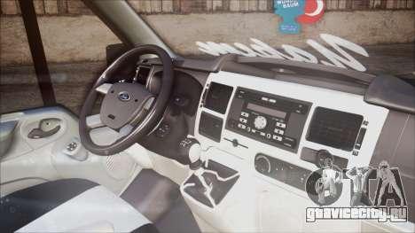 Ford Transit B.O. Yapım для GTA San Andreas вид справа