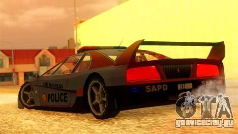 Police Turismo для GTA San Andreas вид слева