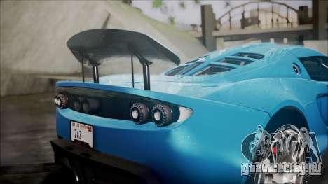 Hennessey Venom GT 2012 U.S.A American для GTA San Andreas вид изнутри
