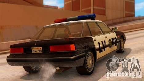 Police LV Intruder для GTA San Andreas вид слева