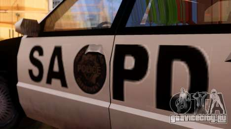 Police SA Premier для GTA San Andreas вид сзади слева
