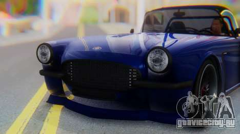 Invetero Coquette BlackFin v2 SA Plate для GTA San Andreas вид сбоку