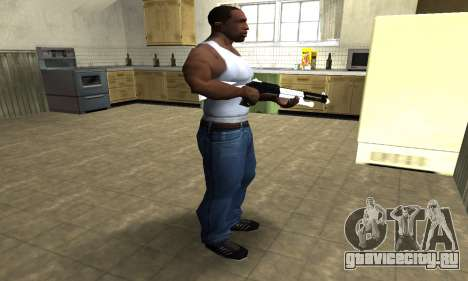 White with Black Shotgun для GTA San Andreas третий скриншот