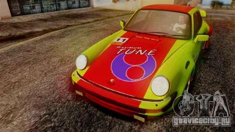 Porsche 911 Turbo (930) 1985 Kit A PJ для GTA San Andreas вид изнутри