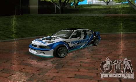 BMW M3 E46 ToyoTires GT-SHOP для GTA San Andreas