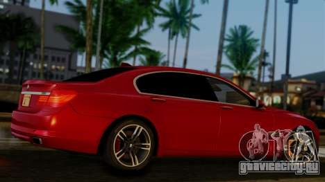 BMW 7 Series F02 2013 для GTA San Andreas вид сзади