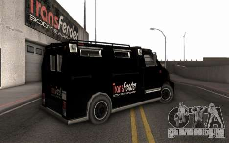 Машина доставки тюнинг-деталей для GTA San Andreas вид слева