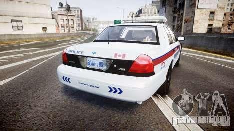 Ford Crown Victoria Bohan Police [ELS] для GTA 4 вид сзади слева