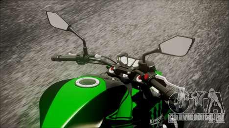 Kawasaki Z800 Monster Energy для GTA San Andreas вид сзади