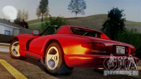 Dodge Viper RT 10 1992 для GTA San Andreas вид слева