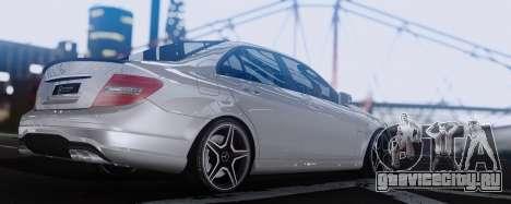 Mercedes-Benz C63 AMG 2013 для GTA San Andreas вид справа