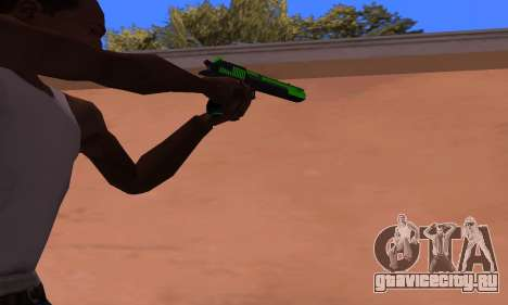 Deagle Green Style для GTA San Andreas второй скриншот