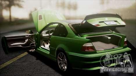 BMW M3 GTR Street Edition для GTA San Andreas колёса