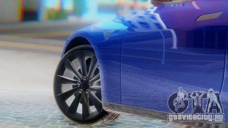 Tesla Model S для GTA San Andreas вид сзади слева