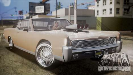 GTA 5 Vapid Chino IVF для GTA San Andreas вид сзади слева