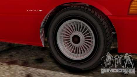 GTA 4 Admiral v2 для GTA San Andreas вид сзади слева