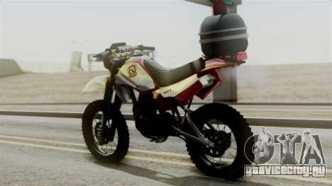 Yamaha DT 180 BM-RS для GTA San Andreas вид слева