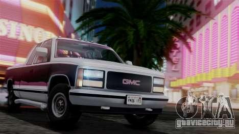 GMC Sierra 2500 Extended Cab 1992 для GTA San Andreas вид сбоку