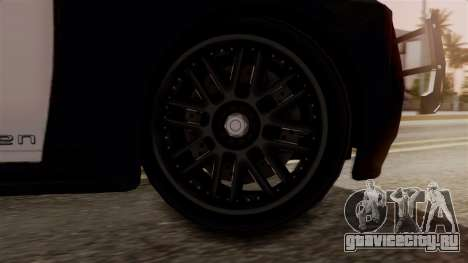 Hunter Citizen from Burnout Paradise Police SF для GTA San Andreas вид сзади слева