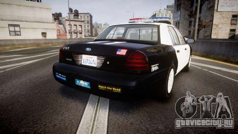 Ford Crown Victoria 2011 LAPD [ELS] rims1 для GTA 4 вид сзади слева