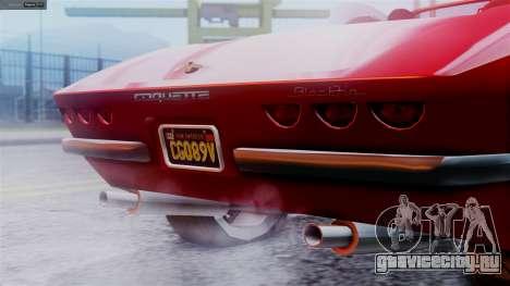 GTA 5 Invetero Coquette BlackFin IVF для GTA San Andreas вид сзади слева