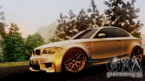 BMW 1M E82 v2 для GTA San Andreas вид сзади