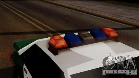 VCPD Cruiser для GTA San Andreas вид сзади