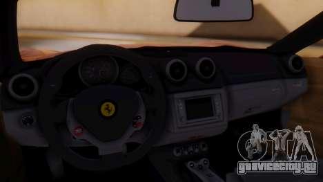 Ferrari California v2.0 для GTA San Andreas вид сзади