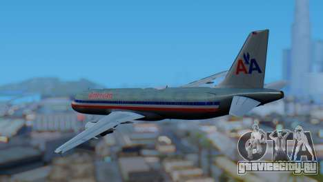Airbus A320-200 American Airlines (Old Livery) для GTA San Andreas вид слева