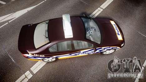 Ford Falcon BA XR8 Highway Patrol [ELS] для GTA 4 вид справа